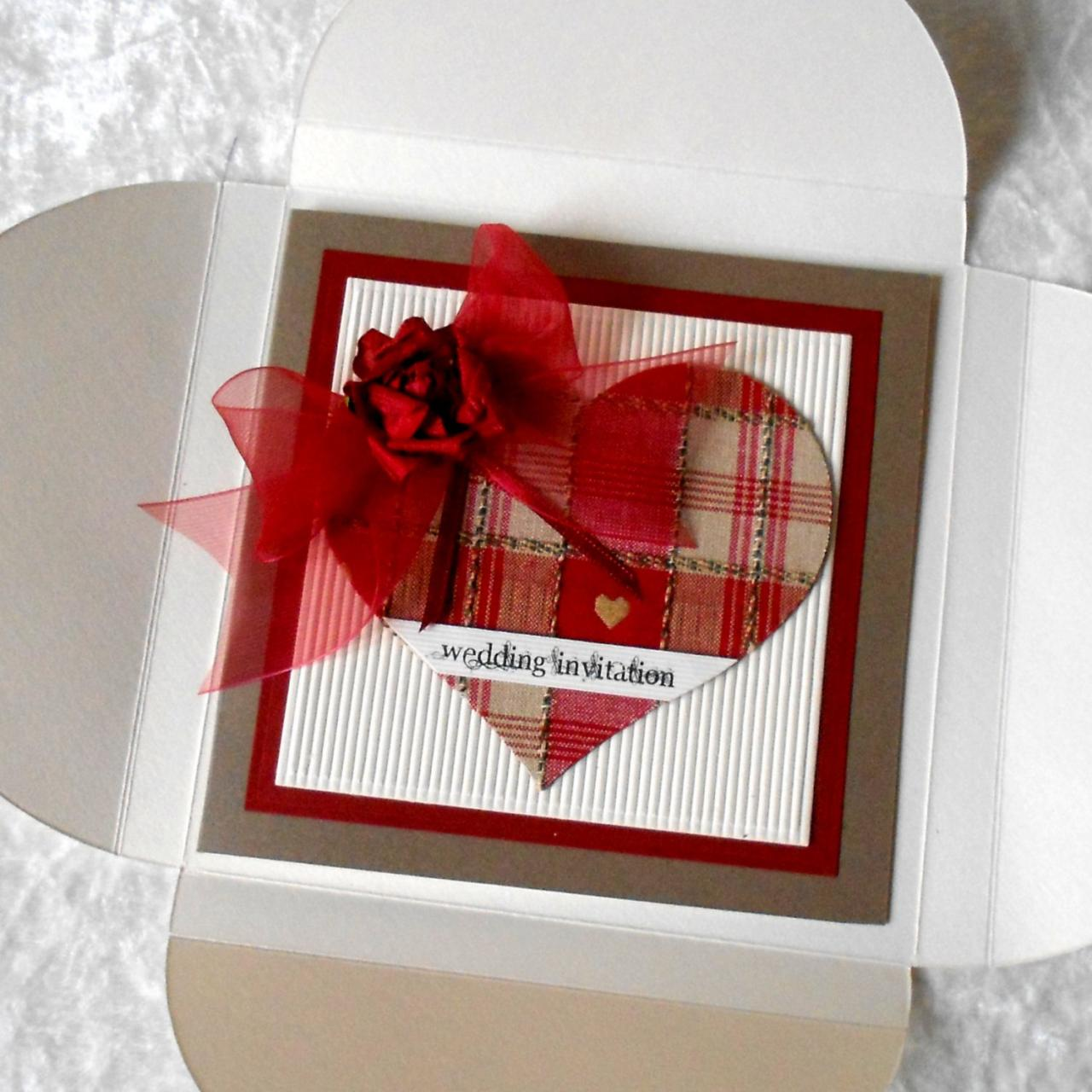 Red Gingham Wedding Invitations | Wedding